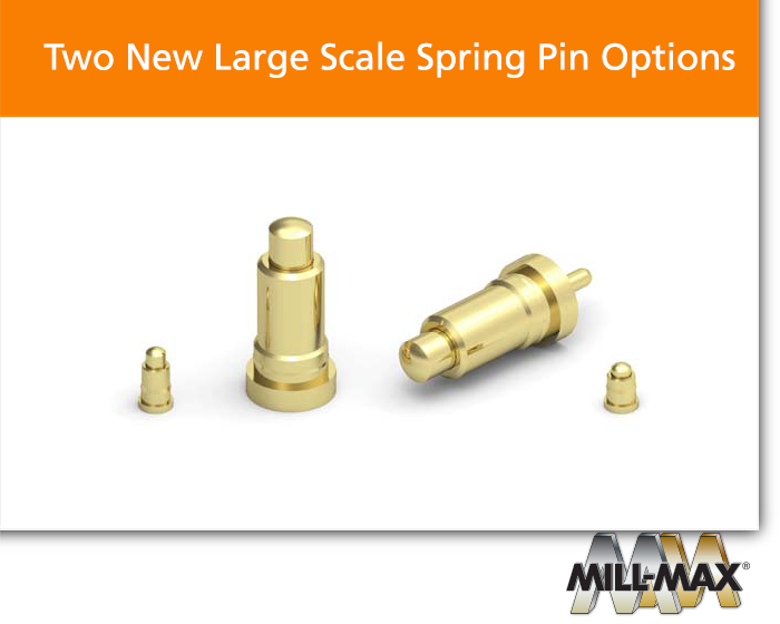 Large Scale Spring Loaded Pin Options