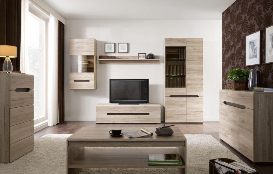 Muebles para salas con madera de roble decoraci n de salas - Salones de estar ...