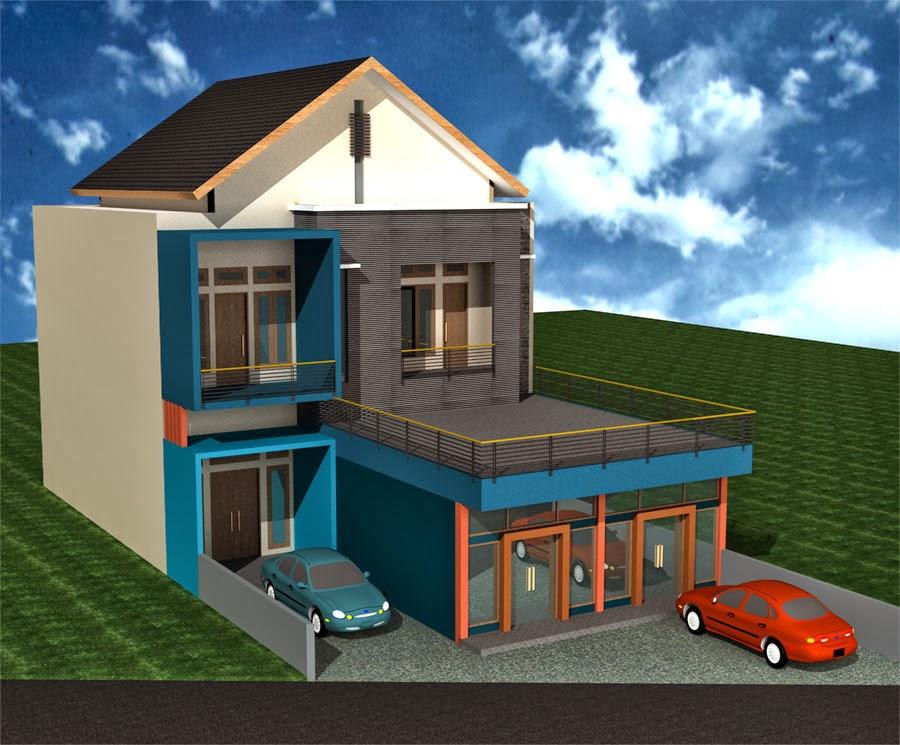Apakah anda sedang mencari referensi Desain Rumah Bentuk Rumah Toko 1