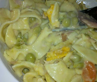 tuna noodle casserole, comfort food, new bride recipe