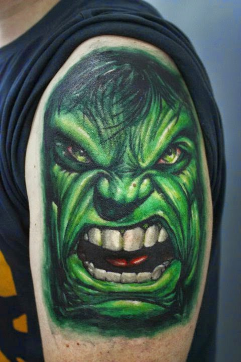top hulk tattoos images for pinterest tattoos. Black Bedroom Furniture Sets. Home Design Ideas