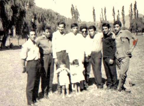 Grupo de amigos en 1963