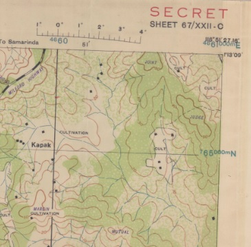 Map of the week secret map of the battle of balikpapan hopefully by now it is safe to show details of a secret map gumiabroncs Choice Image
