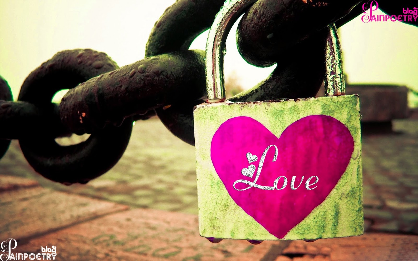 Love-Wises-Image-Wallpaper-With-Love-Heart-Lock-And-Attach-Chane-HD