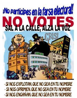 NO VOTAR, NO LEGITIMAR EL GOBIERNO DE LOS OPRESORES [Colectivo Odio de Clase] Boicot_municipales