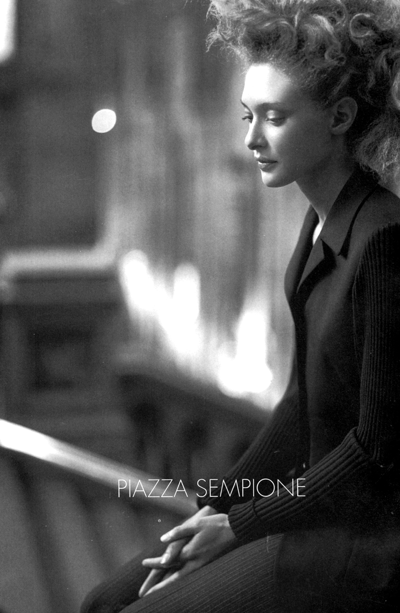 Chrystèle Saint Louis Augustin in Piazza Sempione Fall/Winter 1997 campaign