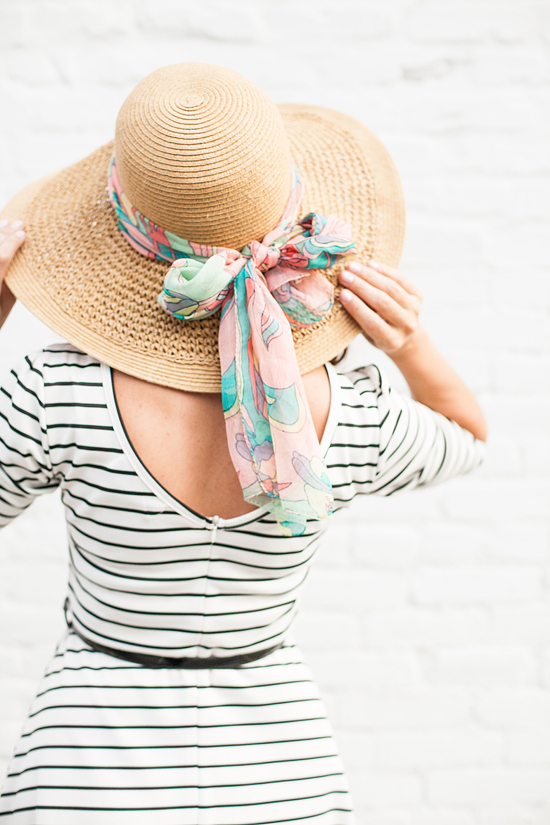 Here&Now: How to tie a scarf on your hat