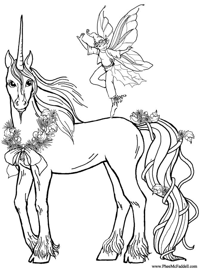 Coloring Pages For Unicorns : Unicorns coloring pages minister