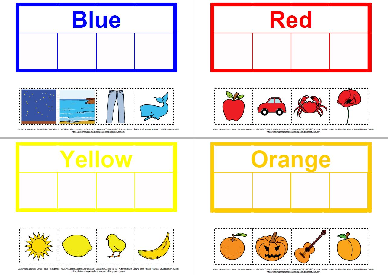 Colours and objects lessons tes teach materiales de comunicacin aumentativa los colores robcynllc Image collections