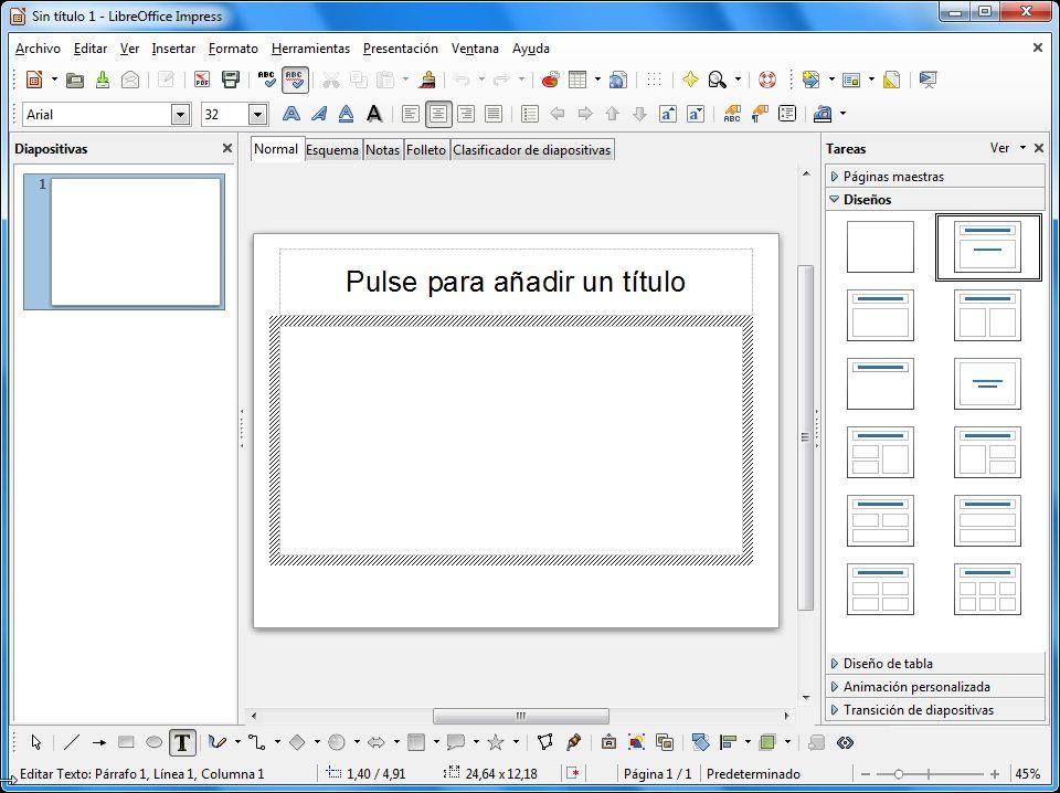 LibreOffice Impress - Marco y Fondo en cuadro de texto ...