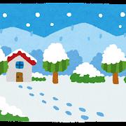 雪景色のイラスト