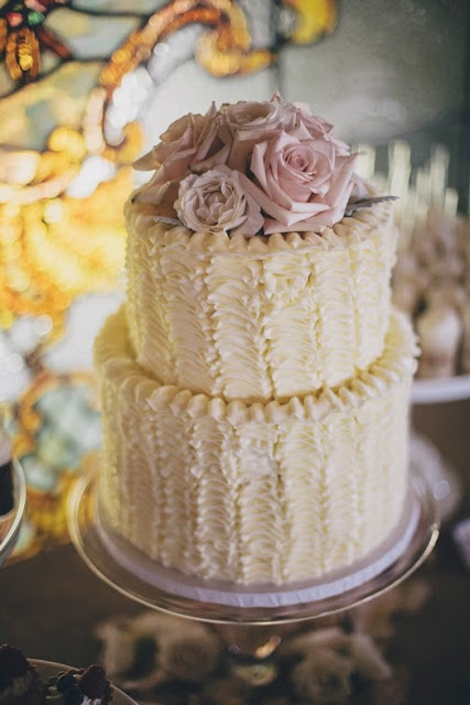 Ruffle Cake in Buttercream - Minneapolis