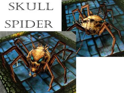 Miniaturas recortables Skull+spider