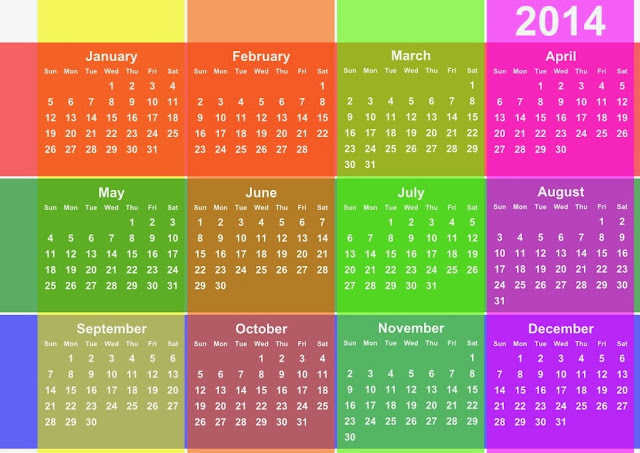 lovey Colors-2014-Calendar