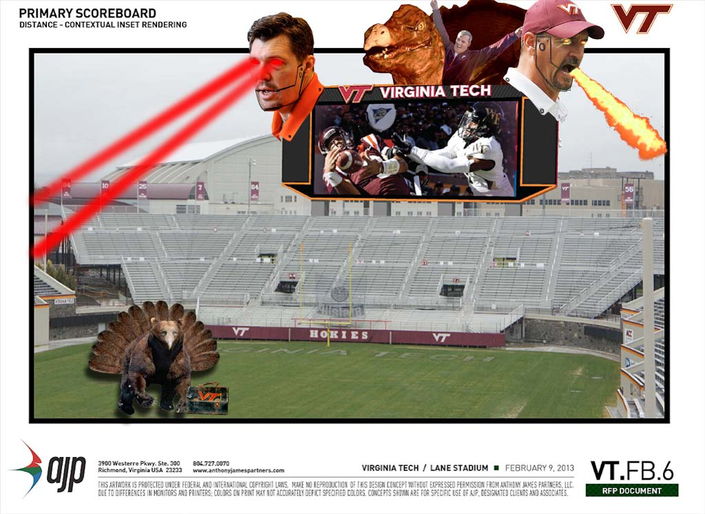 Most Hokie Scoreboard Ever