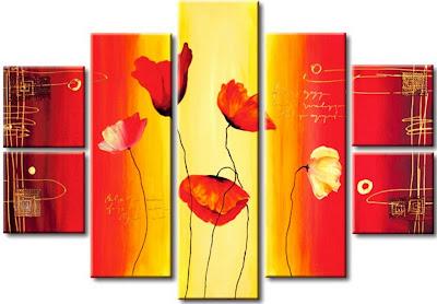 cuadros-modernos-con-flores-al-oleo