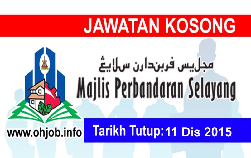 Jawatan Kerja Kosong Majlis Perbandaran Selayang (MPS) logo www.ohjob.info disember 2015