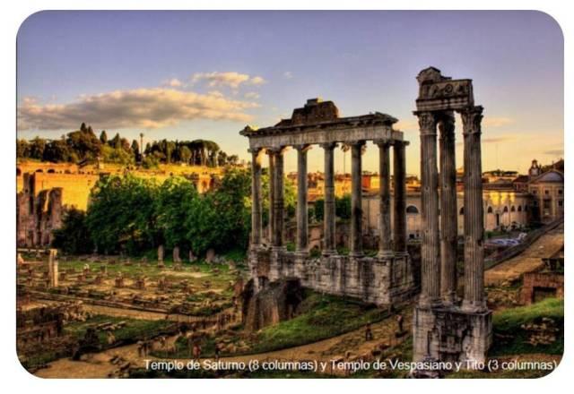 "<a href=""http://www.minube.com/fotos/rincon/1486/1690011"" title=""Templo de Saturno (8 columnas) y Templo de Vespasiano y Tito (3 columnas)""> <img alt=""Templo de Saturno (8 columnas) y Templo de Vespasiano y Tito (3 columnas)"" src=""http://esphoto980x880.mnstatic.com/foro-romano_1690011.jpg""/> </a> <br> <a href=""http://www.minube.com/rincon/foro-romano-a1486"" title=""Foro Romano"">Foro Romano</a> -  <a href=""http://www.minube.com/"" title=""Donde empiezan y terminan tus viajes - Minube.com"">Minube.com</a>"