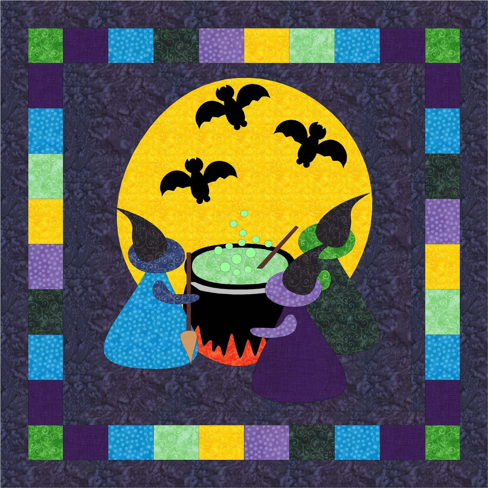 Quilting Affection Designs: Three Witches Brew - Halloween Haunt Blog Hop