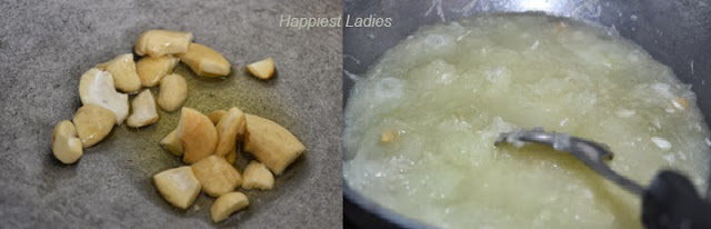 frying-cashews-and-scraped-ash-gourd-+-indian-sweets