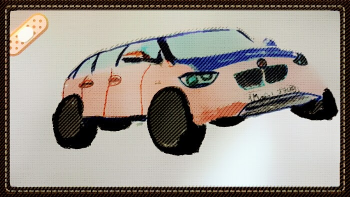 sketch-BMW-car