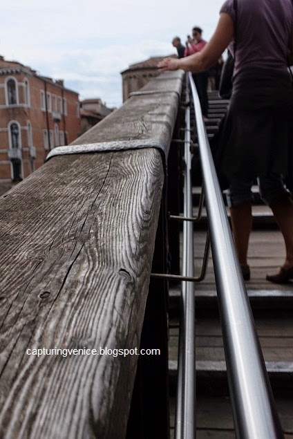 Balustrade of the Accademia Bridge in Venice from Capturing Venice blog