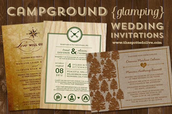 Campground Glamping Wedding Invitations