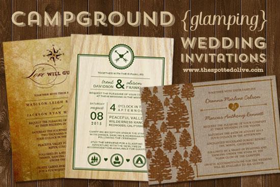 Campground Glamping Wedding Invitations