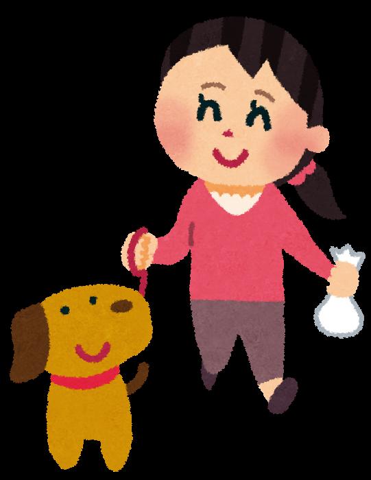 「犬 散歩 イラスト」の画像検索結果