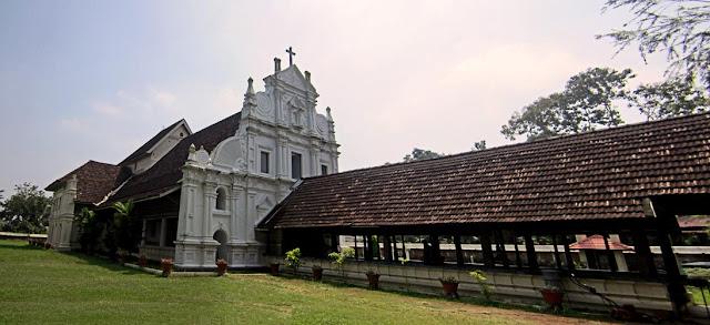 panoramic view of ancient Kerala church