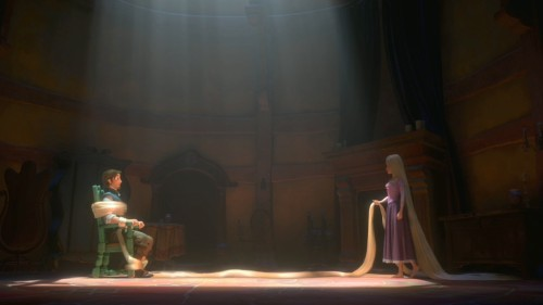 Faceoff in Rapunzel's tower Tangled 2010 animatedfilmreviews.filminspector.com