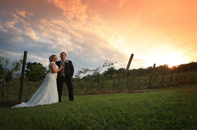 Bride and Groom Bluemont Vineyard