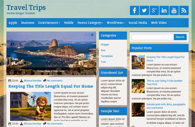 Travel Tips Scoop Responsive Blogger Template