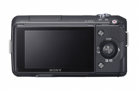 sony nex-3 black back