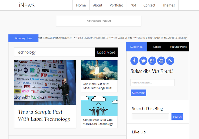 2015 iNews Responsive Blogger Template