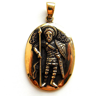 "Кулон ""Святой Феодор Стратилат"" христианство кулоны подвески"