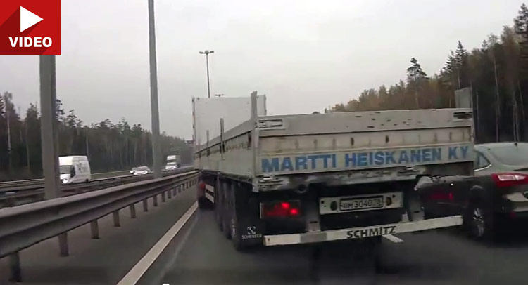 Untitled 1 Trucker Makes an Awesome Last Second Save