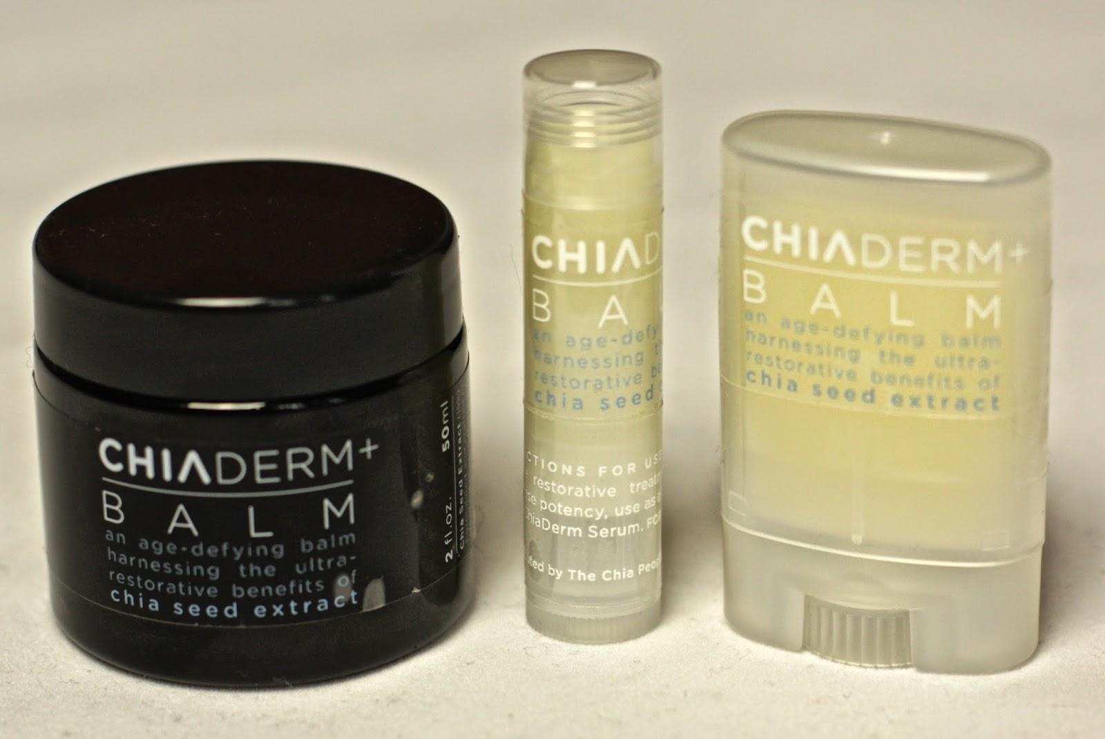 ChiaDerm+ lip balms with chia seeds