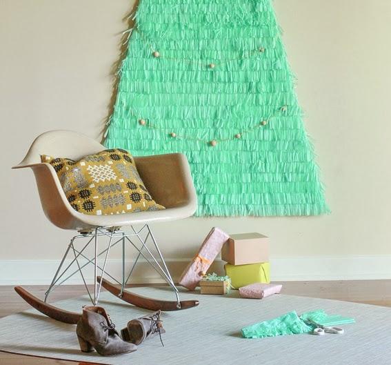 Make a giant christmas tree diy craft projects - Diy christmas tree on wall ...