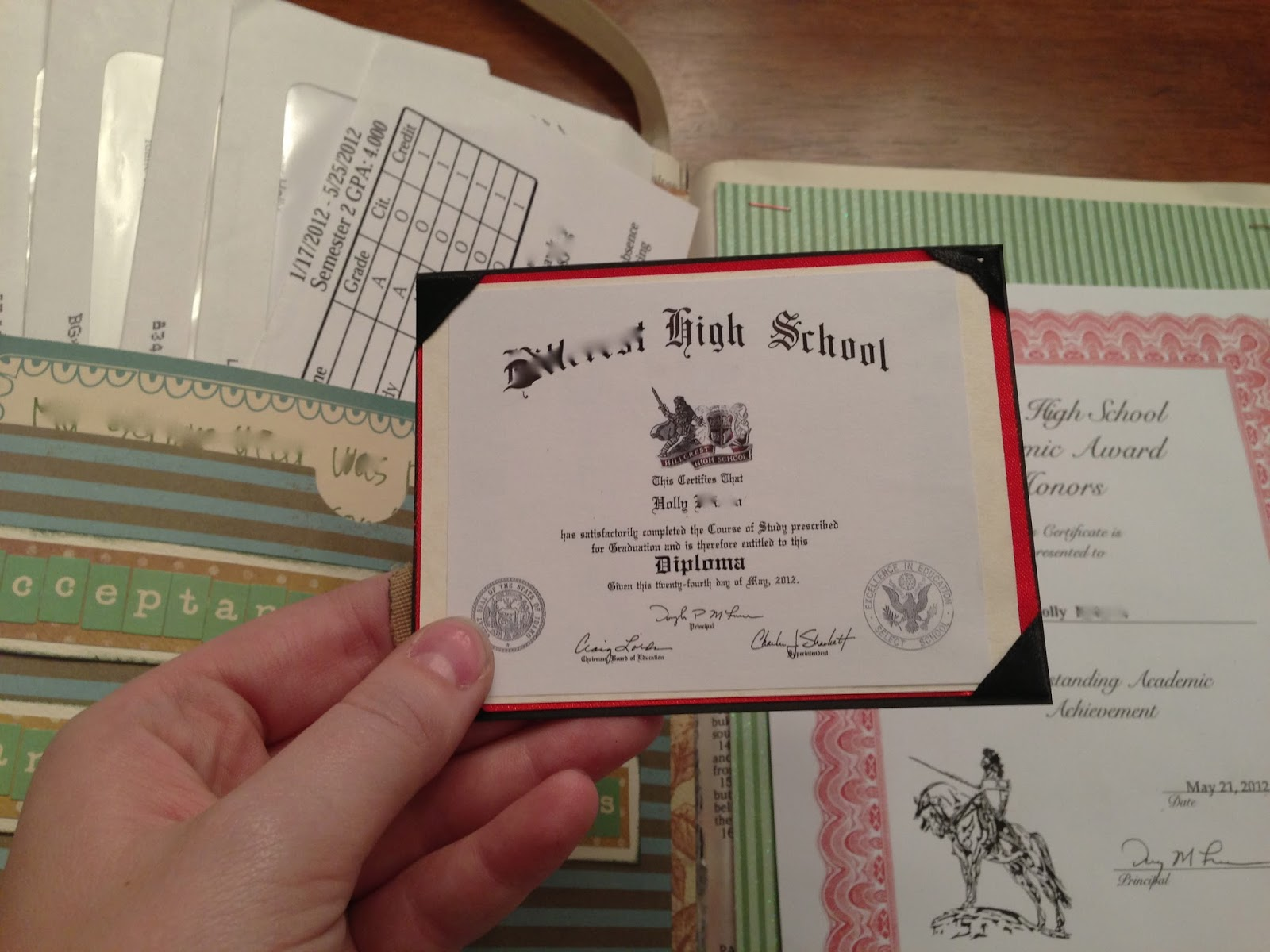 Scrapbook ideas high school - Tiny Diploma How Cute Is That