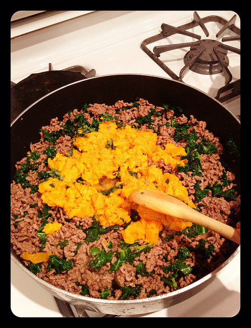 Sidebar: I also do a recipe with ground beef or turkey - same idea, just in a pan rather than a big pot. This method is slightly less time consuming, ...