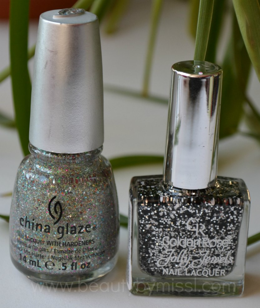 China Glaze Ray Diant, Golden Rose Jolly Jewels 118