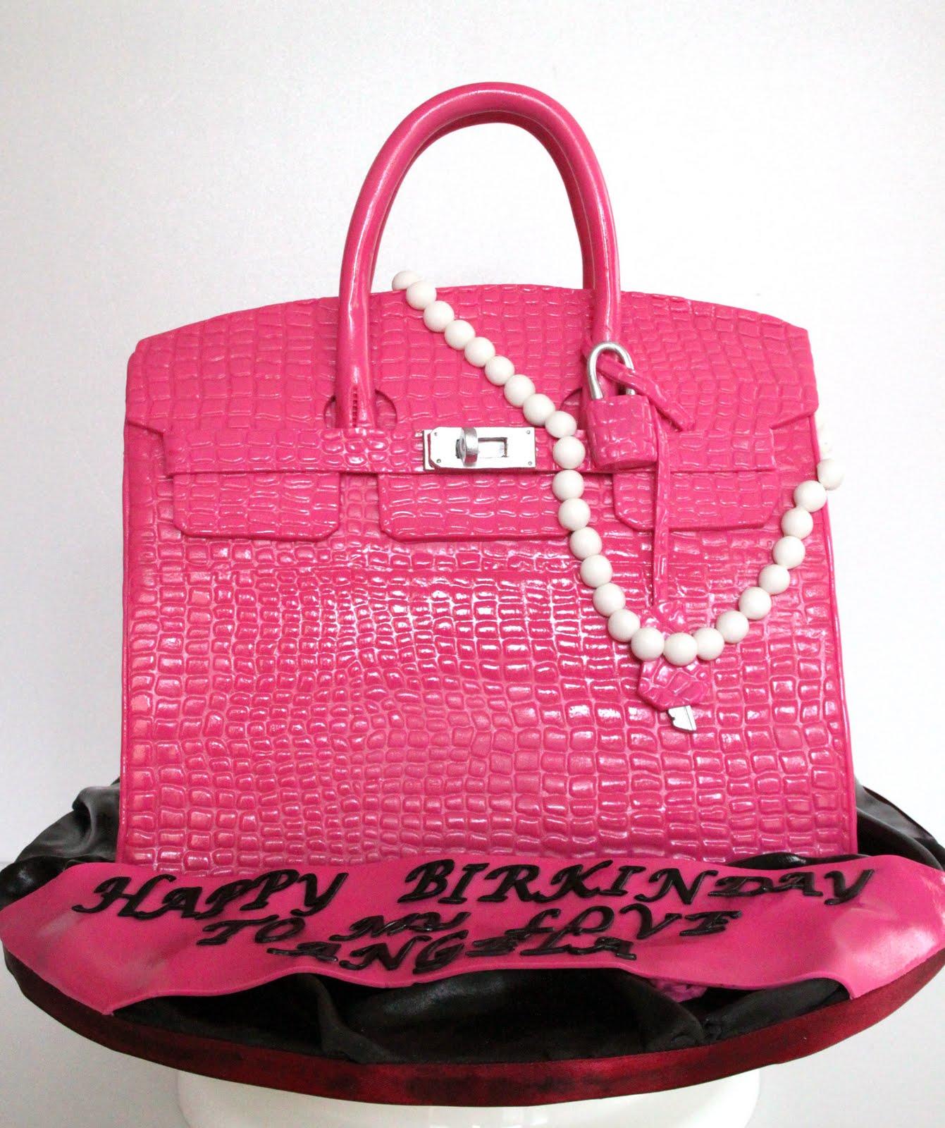 Pink Michael Kors Bag Cake