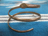 画像①                ~50's 「NAVAJO」               SNAKE MOTIF               COPPER BANGLE
