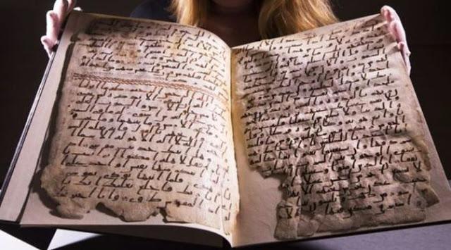 Masya Allah... Al-Qur'an Tertua Di Dunia Sejak Jaman Rasulullah Ditemukan di Inggris