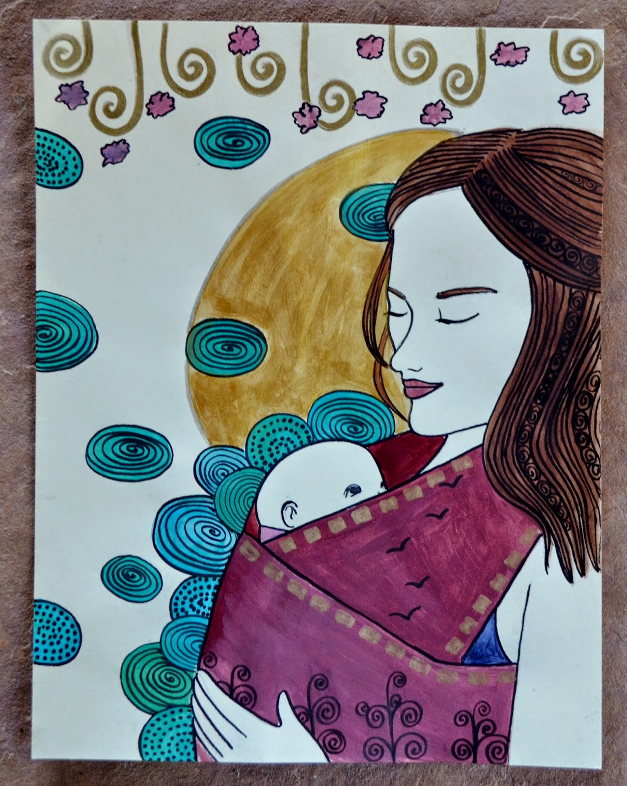custom maternity painting catie atkinson spiritysol