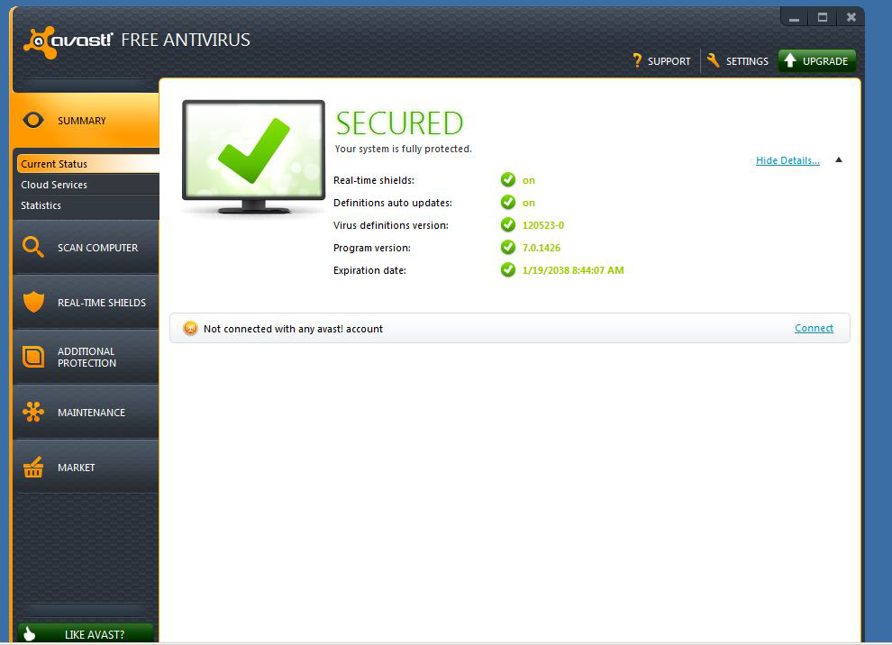 avast antivirus with key 2018