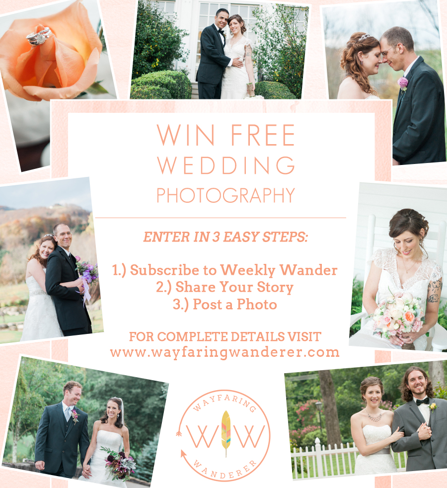 Wedding Giveaway: Wayfaring Wanderer: Wedding Photography Giveaway Hosted By