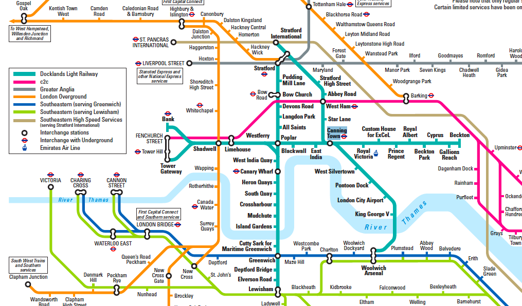 ... overground rail network - see here for the full network map from TfL