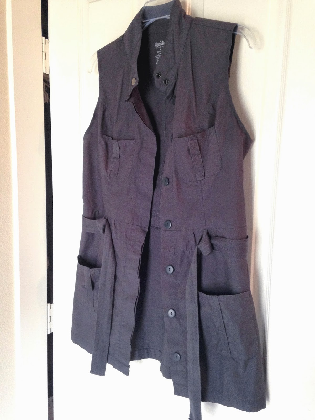 Ulterior Alterations: Refashioned Utility Vest Open